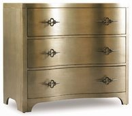 Комод Sanctuary Three-Drawer Shaped Front Gold Chest