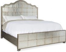 Кровать Arabella King Mirrored Panel Bed